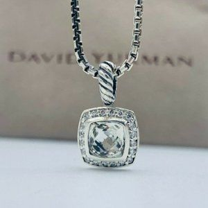 David Yurman Petite Albion White Topaz Necklace